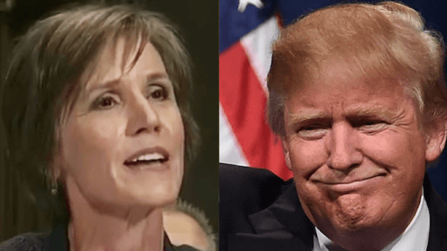 This ironic clip of Sally Yates from 2015 is going viral after Trump fired her for 'betrayal.'