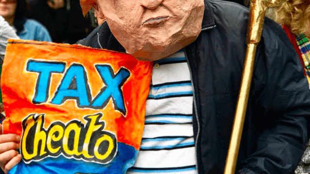 28 of the saltiest and most savage signs from today's Tax March against Donald Trump.