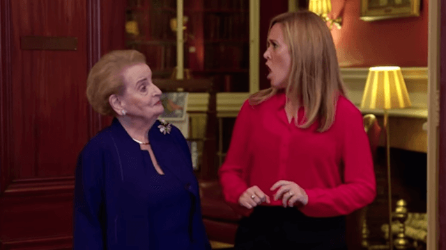 Samantha Bee interviews international female leaders to see what a Clinton presidency might be like.