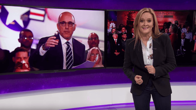 Samantha Bee humbly requests that Matt Lauer and other journalists do their 'f**king jobs.'