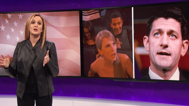 Samantha Bee slams Paul Ryan, the Taylor Swift of politics.