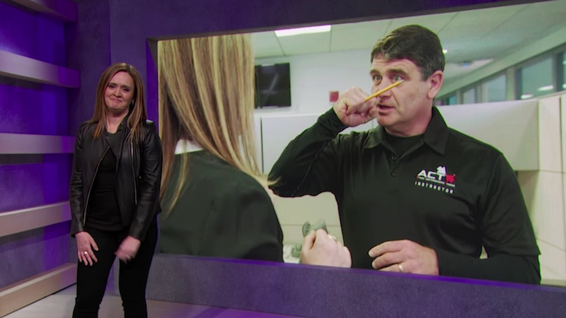 Samantha Bee shoots the breeze with experts who train students to take down school shooters.