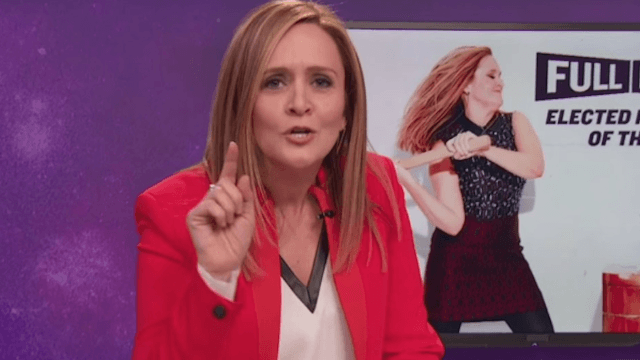 Samantha Bee trolls the 'patriots' who didn't get her joke on Twitter.
