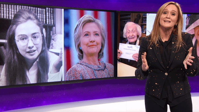 Samantha Bee tells the origin story of 'Hillary Goddamn Brilliant Badass Queen Beyoncé Rodham.'