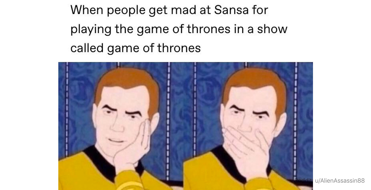 25 memes for anyone who thinks sansa stark she will be sitting on the iron throne someecards entertainment