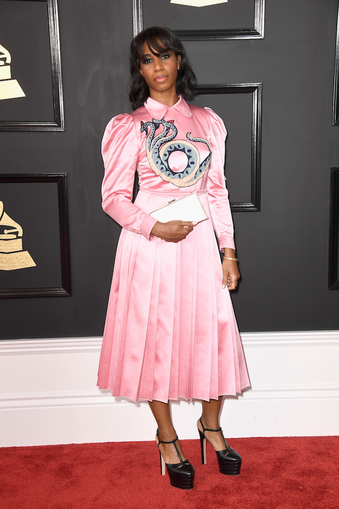 "The shoes and clutch are good, and I like the snake. Everything else that Santigold is wearing is a whole big bag of ""no."""