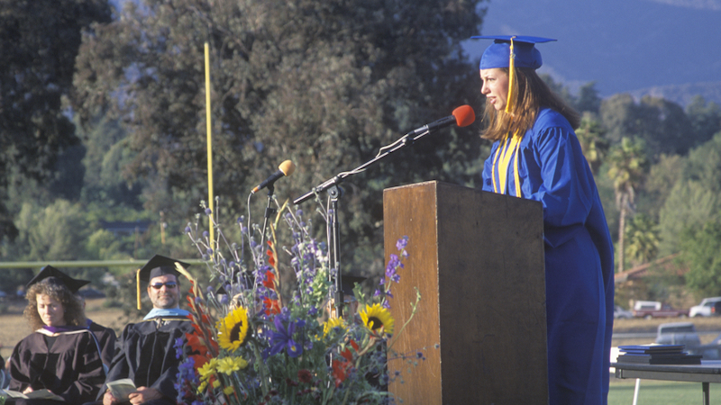 A class president surprised her audience with a speech about how the school censored her other speeches.