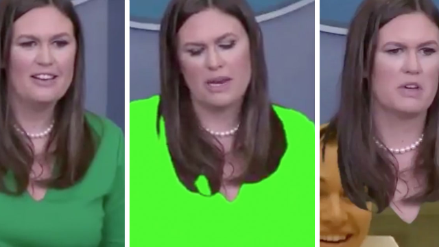 Sarah Huckabee Sanders wore green on TV. Here's why that's a bad idea.