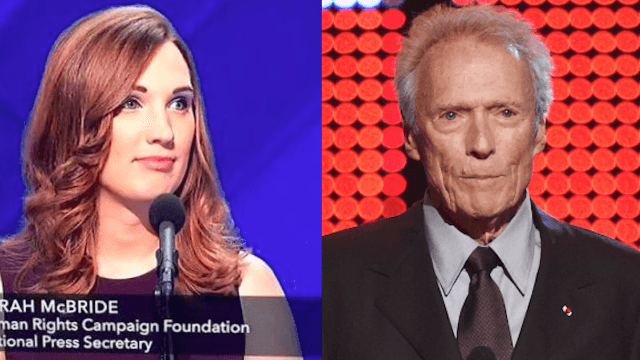 Sarah McBride, the trans woman who spoke at the DNC, tears into Clint Eastwood on Twitter.