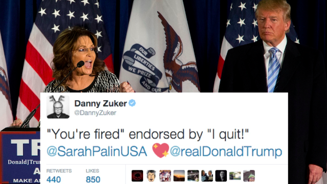 33 of the best reactions to Sarah Palin endorsing Trump from godless liberal comedians.