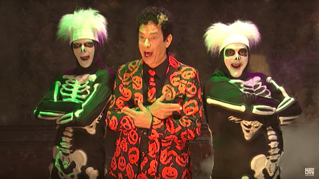 David S. Pumpkins makes his triumphant return to 'SNL' and we have several questions.