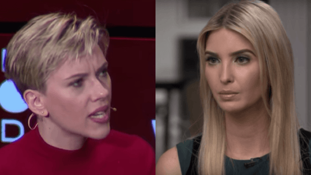 Scarlett Johansson speaks out about 'cowardly' Ivanka Trump and doesn't hold back.