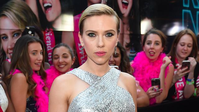 Scarlett Johansson's new back tattoo is HUGE.