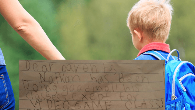 'School' sends 7-year-old home with a 'totally legit' note saying he needs to work on this one thing.