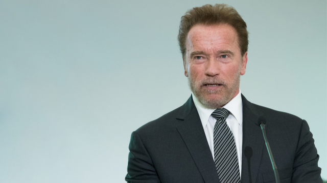 Arnold Schwarzenegger responded to Trump's claim that he'd 'died' with a tax return burn.