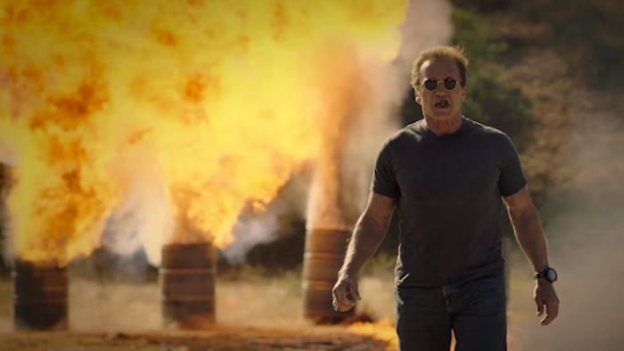 Schwarzenegger's guide to blowing sh*t up is all I want from action movies, in 2 minutes.