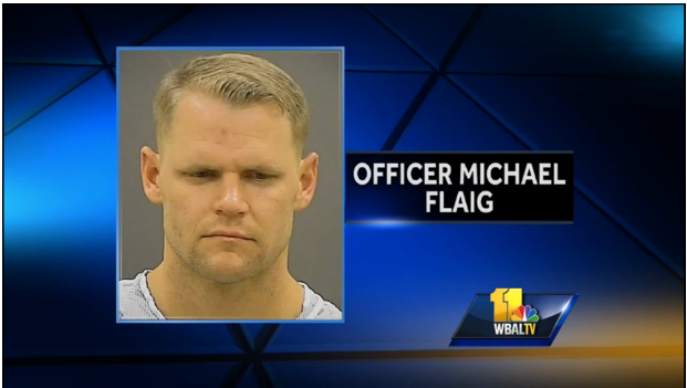 Baltimore police officer literally sinks (teeth) to new lows in bar fight.