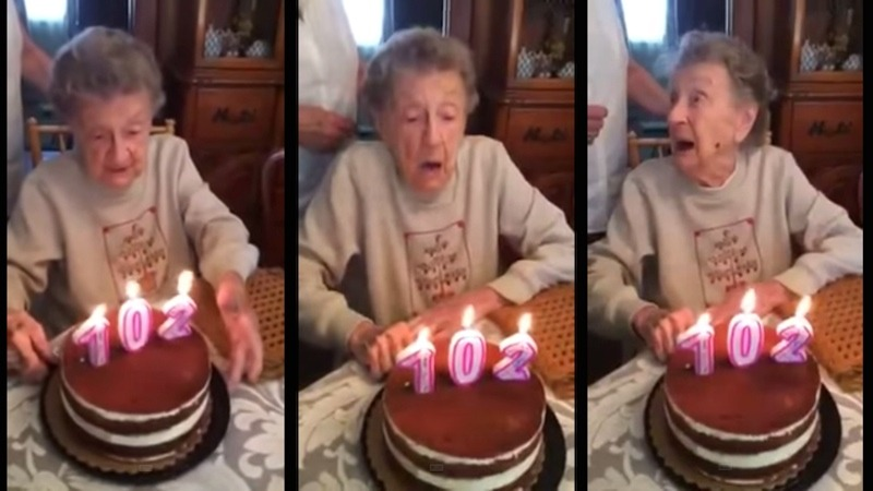 This is the kind of birthday candle mishap that only happens every 102 years or so.