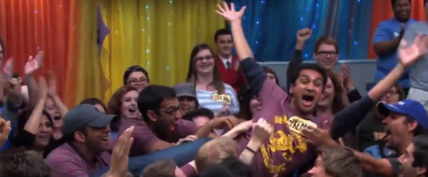 "This ""Price is Right"" contestant found the best possible way to ""Come on down!"" when he got picked."