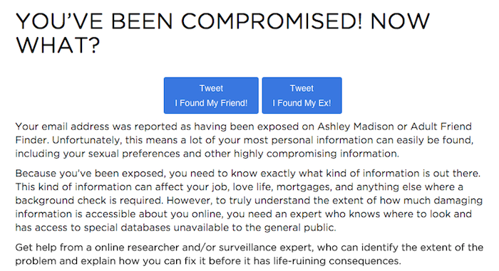 Here's how to check if your spouse was part of the Ashley Madison leak  without ever