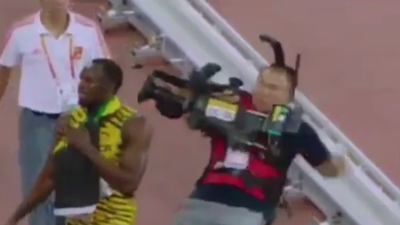 World's fastest man Usain Bolt rammed by runaway Segway. Video proof of a robot uprising?