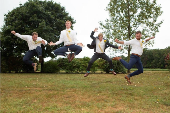 These guys put the 'arty' in 'wedding party.'