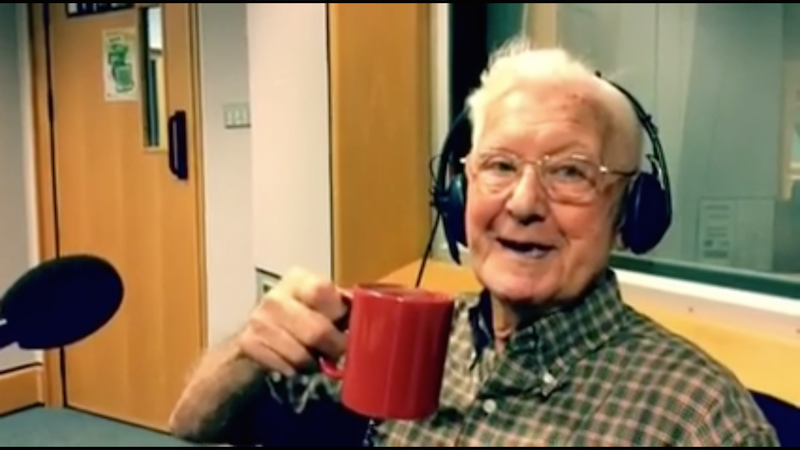 A 95-year-old man called a radio show because he felt 'so alone.' They made him a delightful offer.