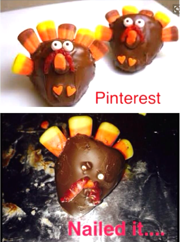 15 Thanksgiving Pinterest disasters so terrible you'll be grateful they aren't yours.