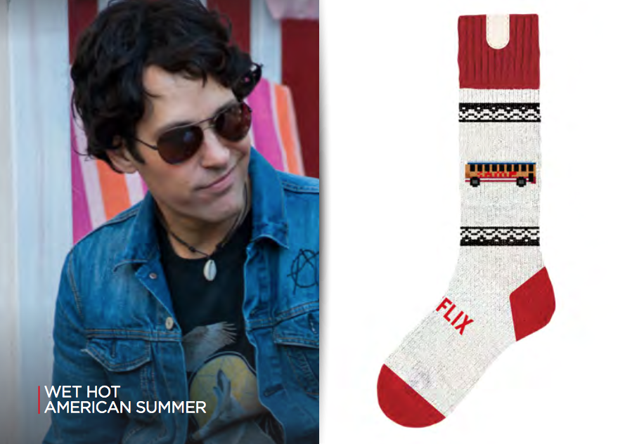 Wet Hot American Summer is one available sock design.
