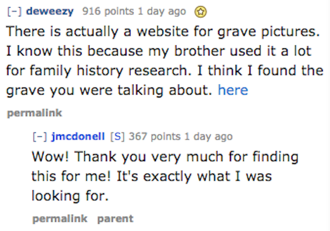 Internet strangers help man and his grandmother find the WWII grave of her brother.