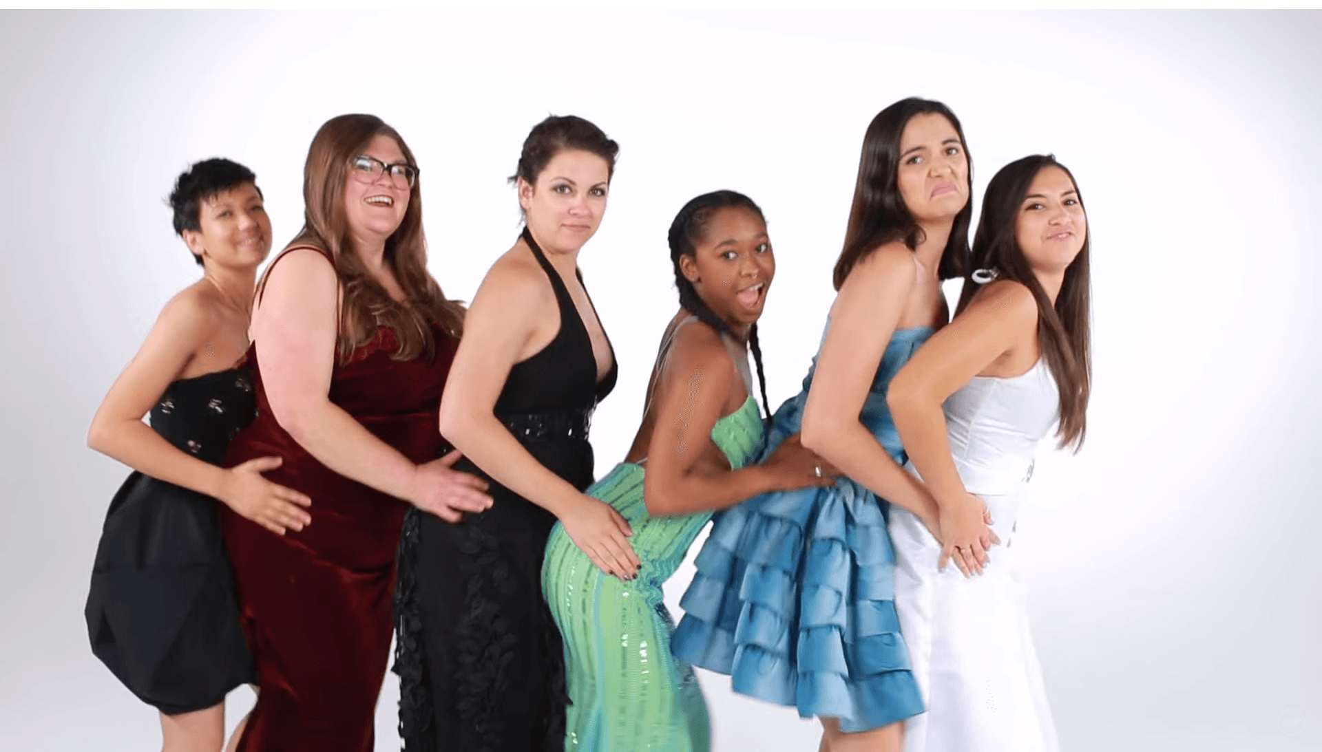 These women tried on their old prom dresses to reminisce about more fashion-questionable times.