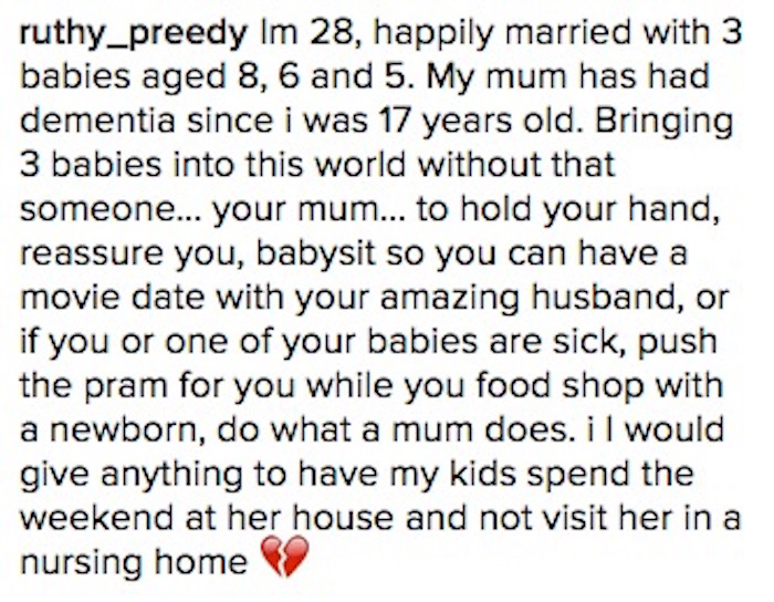 n model rachael finch torn to shreds on instagram because  then there s this comment which will make you want to have kids just so you can leave them your parents
