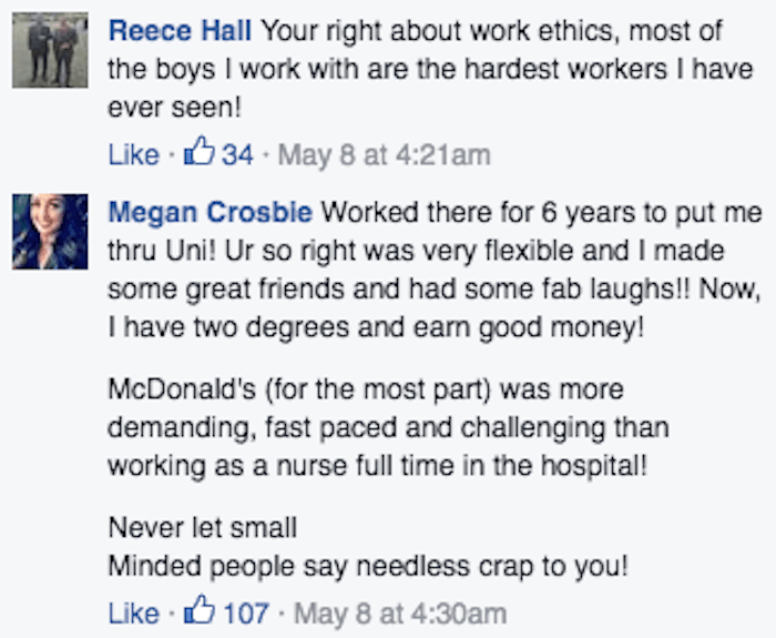 McDonald's employee goes viral with Facebook rant about people who hate on his 'dead-end' job.