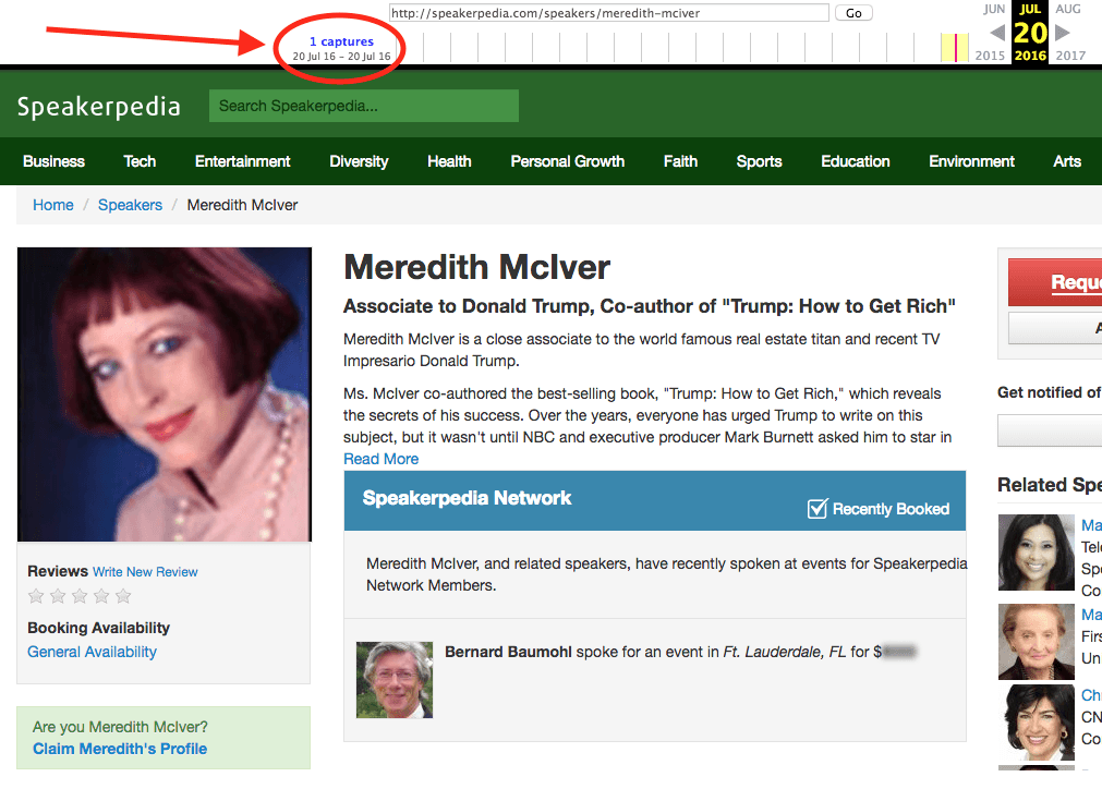 Update: Meredith McIver, the Trump ghostwriter who took the fall for Melania's speech, really exists.