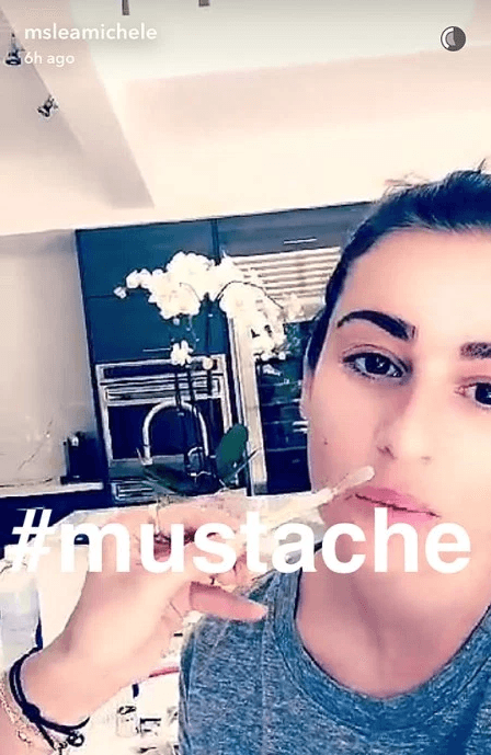 Lea Michele Snapchats her mustache waxing to prove that she is Jewish and Italian.