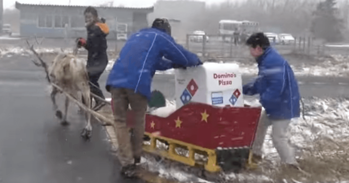 Sorry, Domino's won't deliver your pizza via reindeer after all.