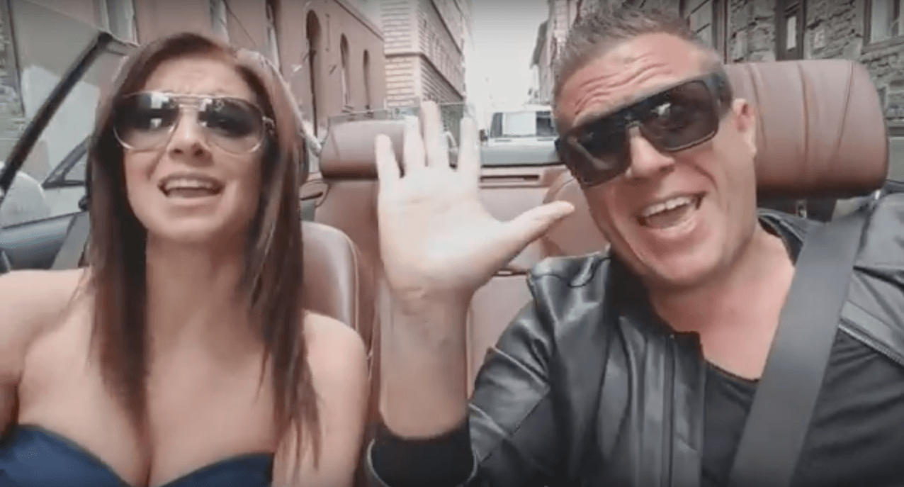 Sarka and host Tibor chatted about Trump's proposition while cruising in a convertible.