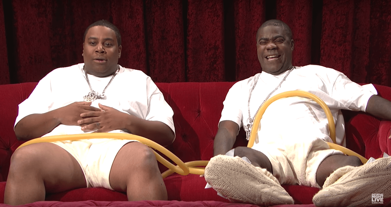 Kenan Thompson and Tracy Morgan as Beyoncé's twin babies, in utero.