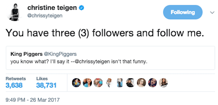 27 times Chrissy Teigen's burns were the only good thing about Twitter.