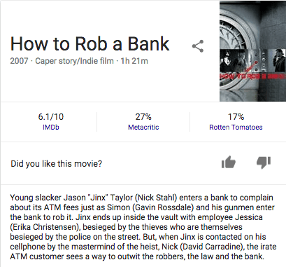 Man arrested for robbing bank after Googling 'how to rob a bank.' Guess where.
