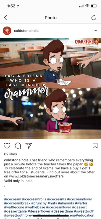 Artist comes up with sweet idea after discovering that an ice cream company plagiarized his work.
