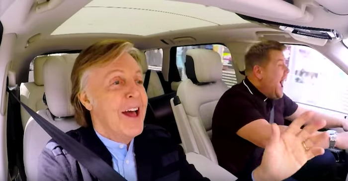 Paul McCartney did carpool karaoke and it made James Corden cry.