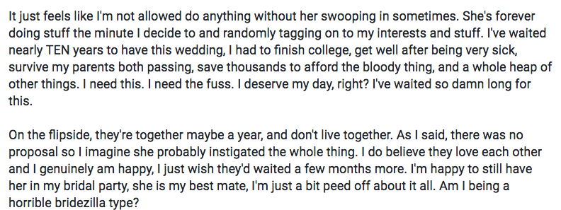 Bridezilla goes off in viral rant about how her maid of honor stole her thunder.