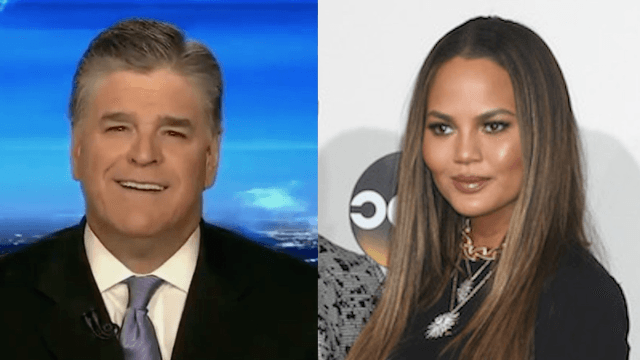Sean Hannity threatens to tell 'a story' about Chrissy Teigen after her latest Trump rant.