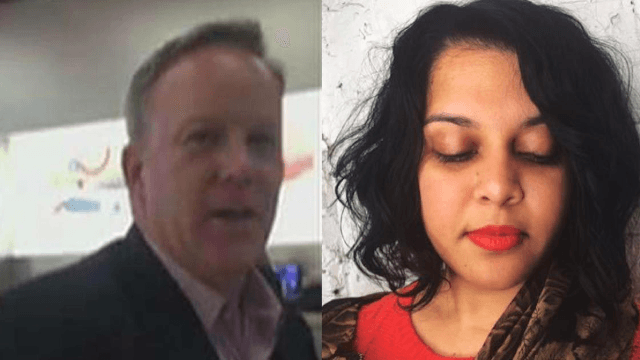 Woman confronts Sean Spicer in Apple Store: 'How does it feel to work for a fascist?'