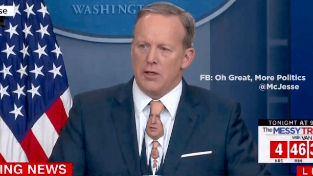 Sean Spicer wore a green tie on TV. Here's why that's a bad idea.