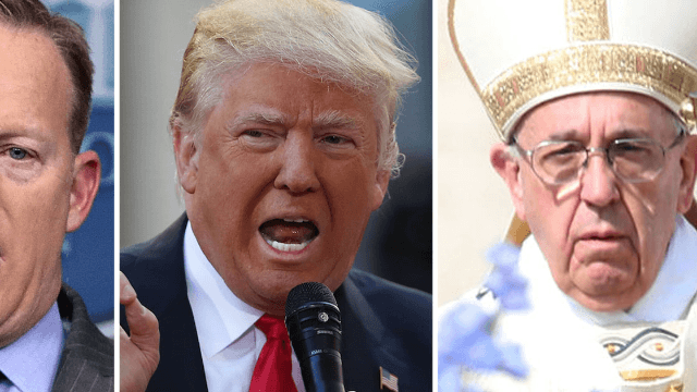 Sean Spicer really, really wanted to meet the Pope and Trump wouldn't let him.