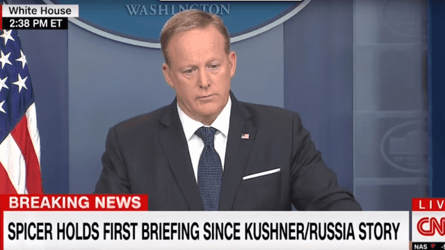 Sean Spicer's first press briefing in two weeks went so badly he actually ran away.