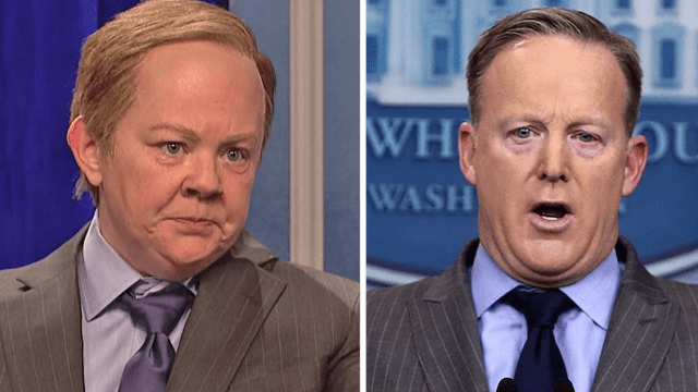 Here's what Sean Spicer thinks of Melissa McCarthy's hilarious 'SNL' impression of him.