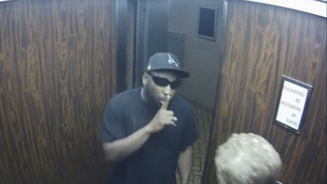 See the exact reason you should never rob someone in an elevator.